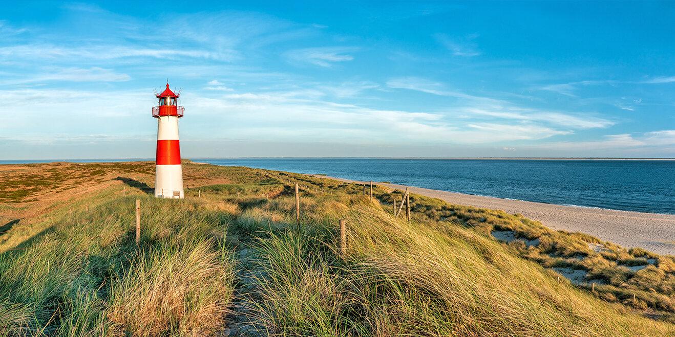 Leuchtturm Norddeutschland an der Nordsee auf Sylt