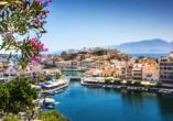 Mietwagen-Rundreise Kreta, Agios Nikolaos, Süßwassersee Voulismeni