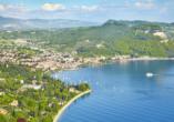 Hotelkomplex Palme, Blick auf Garda