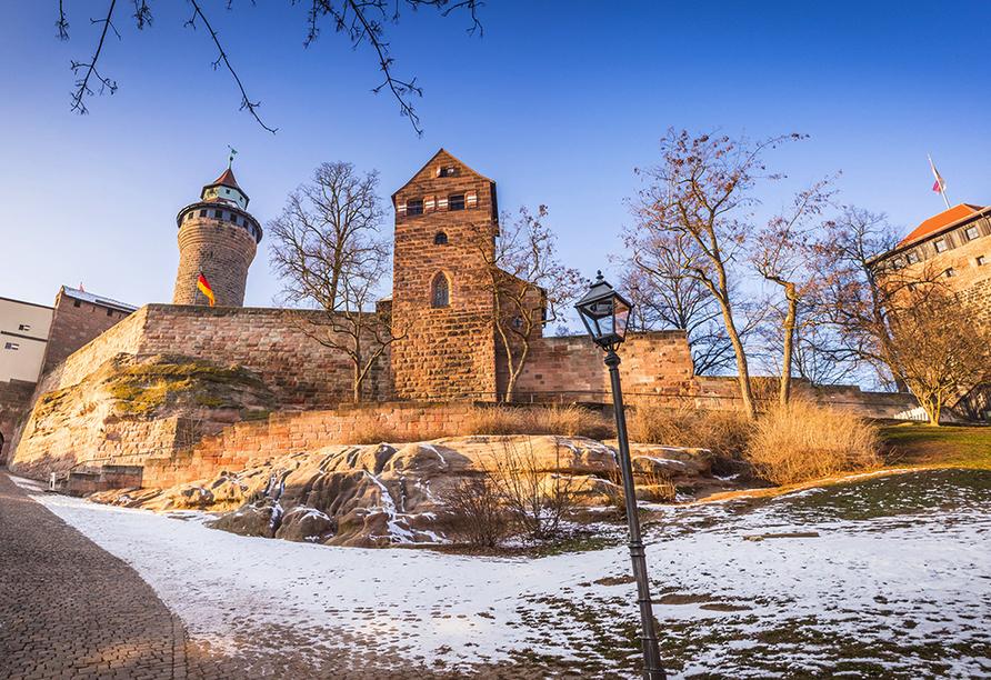 Landpension Postwirt in Kirchensittenbach in Mittelfranken, Kaiserburg in Nürnberg