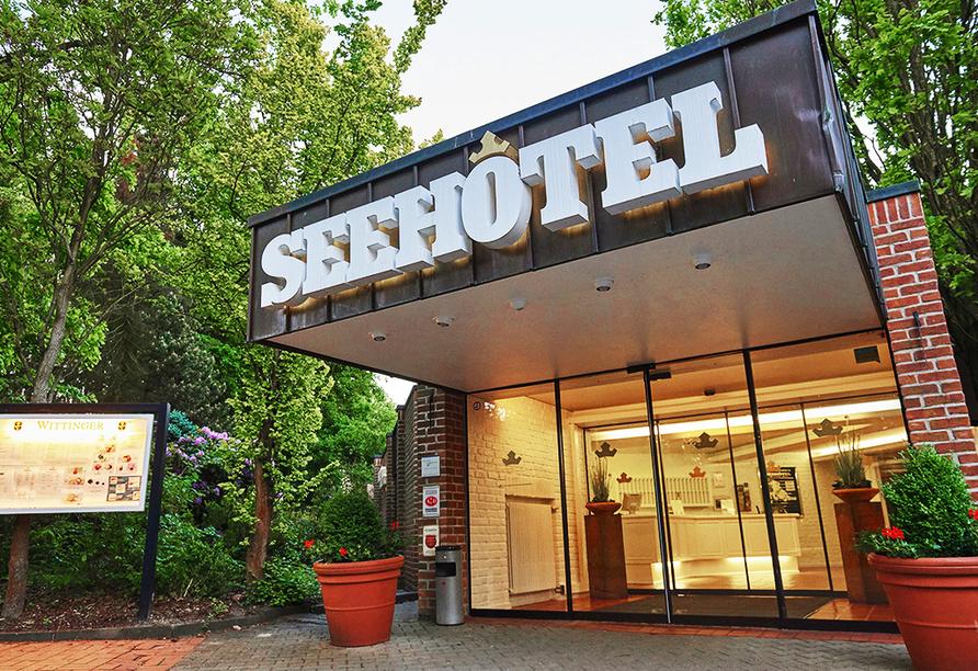 Seehotel am Tankumsee, Hoteleingang