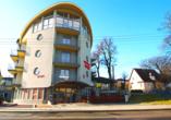 Hotel Rezydencja Korab in Misdroy an der polnischen Ostsee, Außenansicht