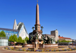astral'Inn Hotel & Restaurant Leipzig, Krochhochhaus und Mendebrunnen