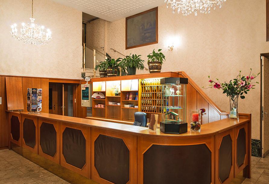 Hotel Mozart in Wien Österreich, Rezeption
