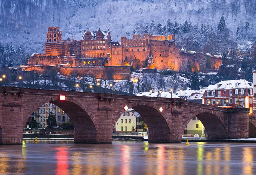 Hotel Zur Krone in Michelstadt im Odenwald, Heidelberg Winter