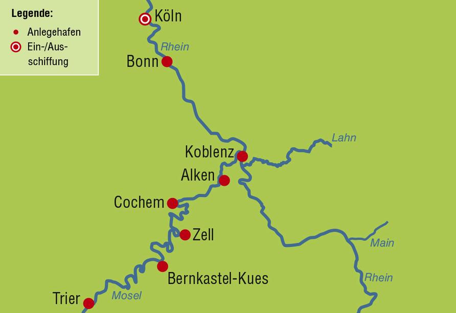 MS Switzerland, Reiseroute
