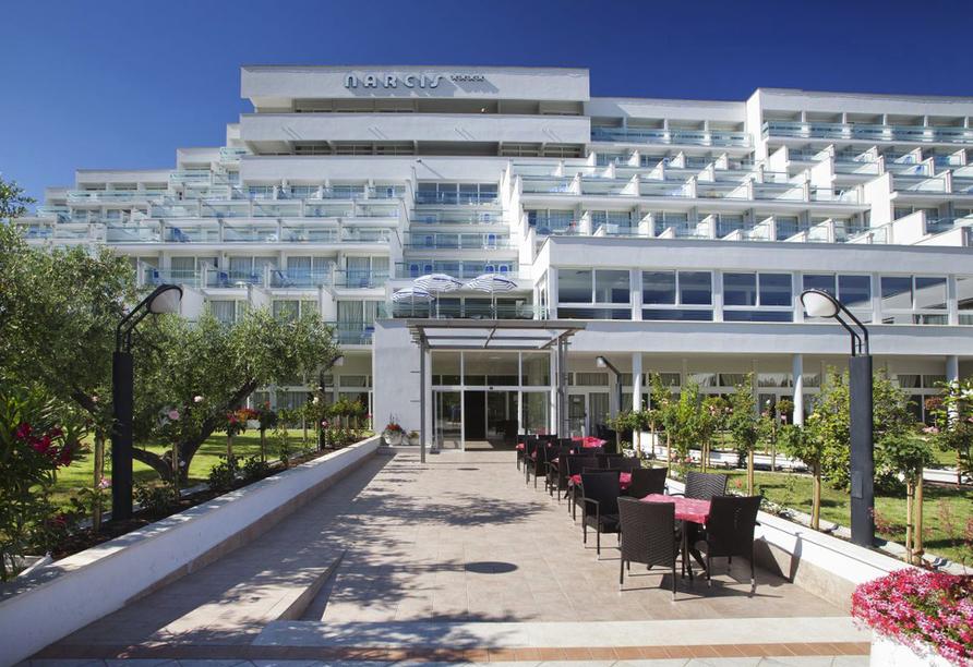 Hotel Narcis in Rabac in Istrien, Eingangsbereich