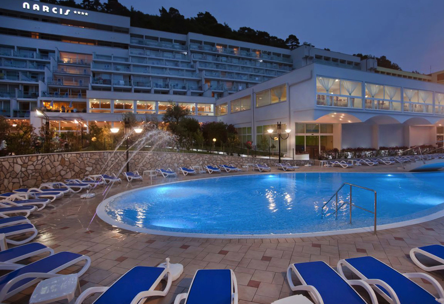 Hotel Narcis in Rabac in Istrien, Außenpool