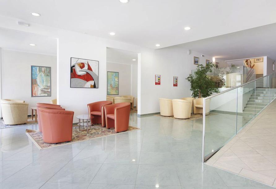 Hotel Narcis in Rabac in Istrien, Lobby