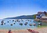Hotel Narcis in Rabac in Istrien, Hafen