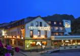 Hotel Zur Post, Altenahr, Ahrtal, Außenansicht, Nacht