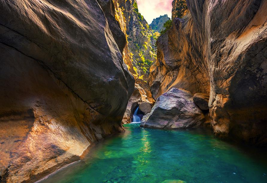 Blaue Reise Türkei, Saklikent Schlucht