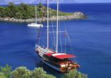 Blaue Reise Türkei, Beispiel Gulet