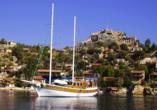 Blaue Reise Türkei, Gulet Außenansicht