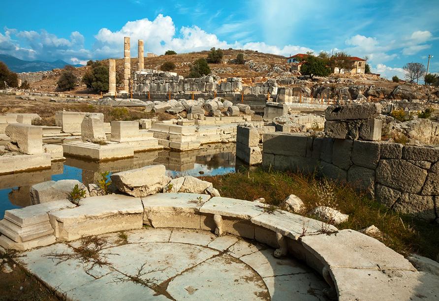 Blaue Reise Türkei, Ruinenstadt Xanthos