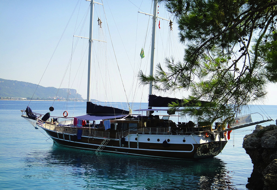 Blaue Reise Türkei, Anlegeort