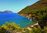 Blaue Reise Türkei, Adrasan Bucht