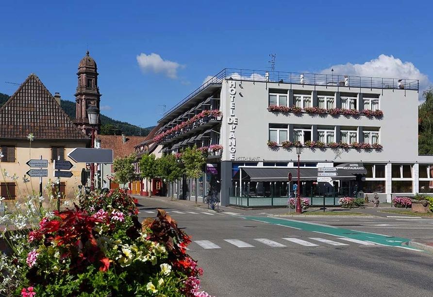 Hôtel Restaurant de l'Ange in Guebwiller, Außenansicht