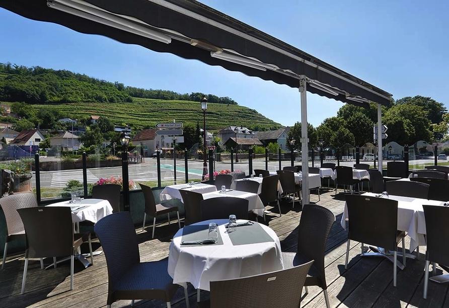 Hôtel Restaurant de l'Ange in Guebwiller, Terrasse