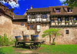 Hôtel Restaurant de l'Ange in Guebwiller Stadtmauer