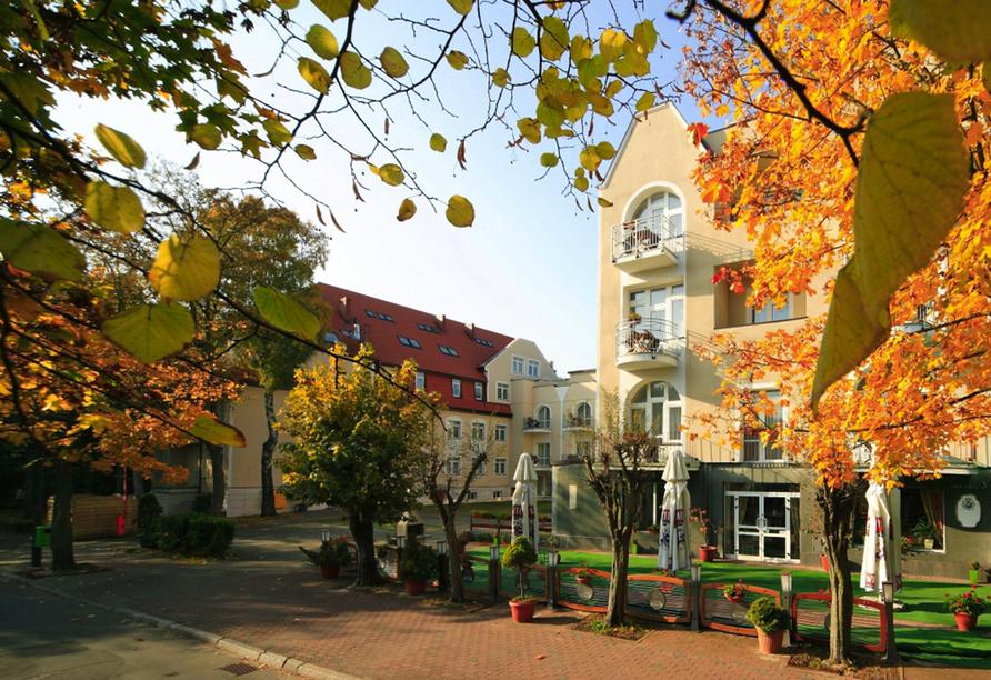 Hotel Atol Spa in Swinemünde an der polnischen Ostsee, Außenansicht