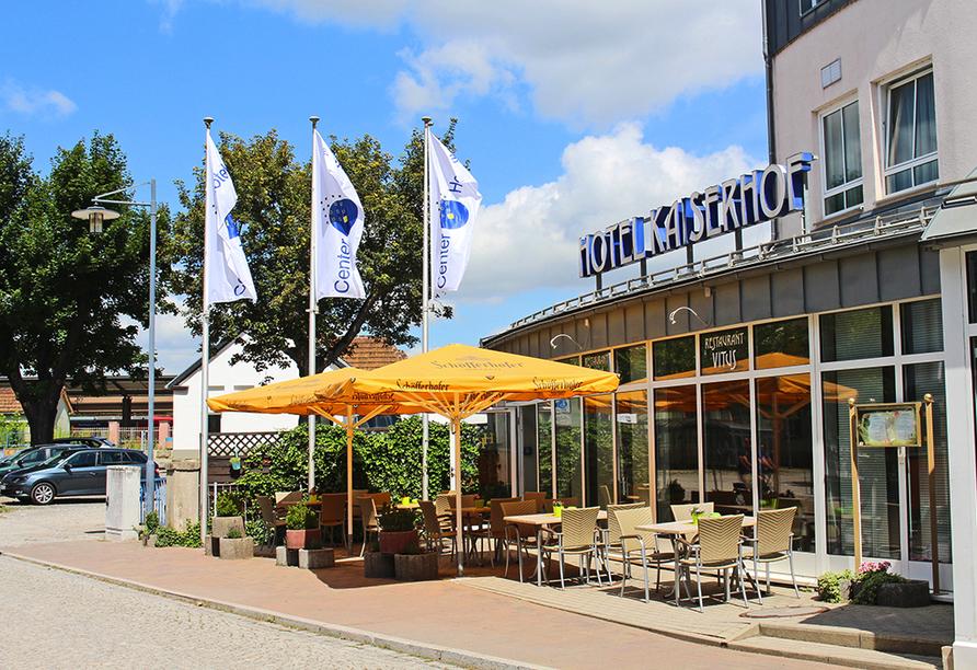 Center Hotel Kaiserhof in Naumburg, Außenansicht