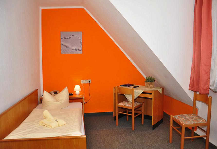 Hotel Zum Gründle in Oberhof, Beispiel Einzelzimmer
