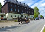 Hotel Schwarzes Ross in Oberwiesenthal im Erzgebirge, Aussenansicht