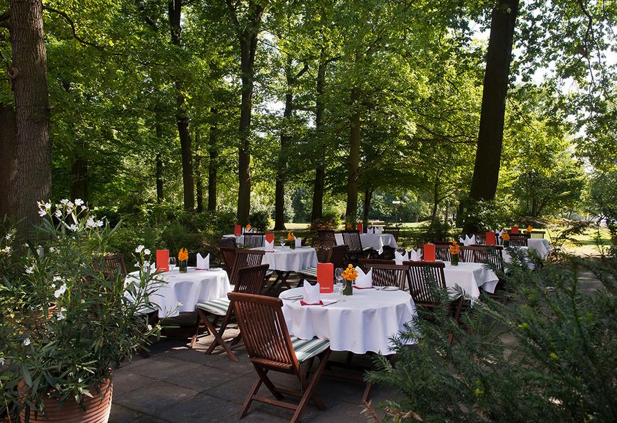 Wyndham Garden Lahnstein Koblenz Hotel in Lahnstein im Oberen Mittelrheintal, Terrasse