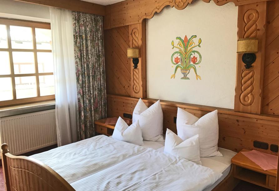 Beispiel eines Doppelzimmers im Gasthof Genosko