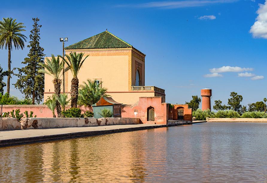 Busrundreise Marokko, Marrakesch, Menara Gärten