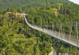 Best Western Panoramahotel Talhof in Wängle bei Reutte in Tirol, Hängebrücke