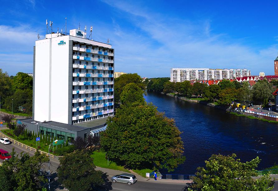 Aparthotel Nad Parseta in Kolberg an der polnischen Ostsee Außenansicht