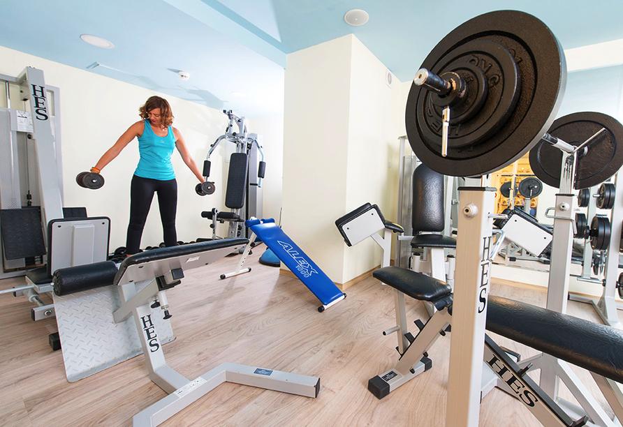 Aparthotel Nad Parseta in Kolberg an der polnischen Ostsee Fitnessstudio