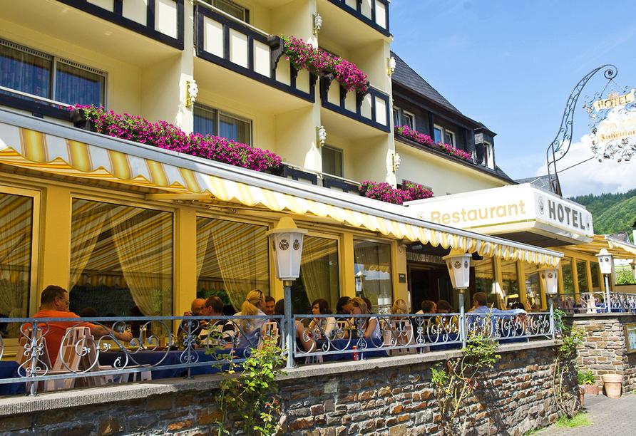 Hotel Weinhaus Fuhrmann in Ellenz-Poltersdorf an der Mosel, Terrasse