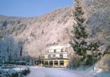 Hotel Wiedfriede Dattenberg Rhein-Westerwald Wiedtal Winter