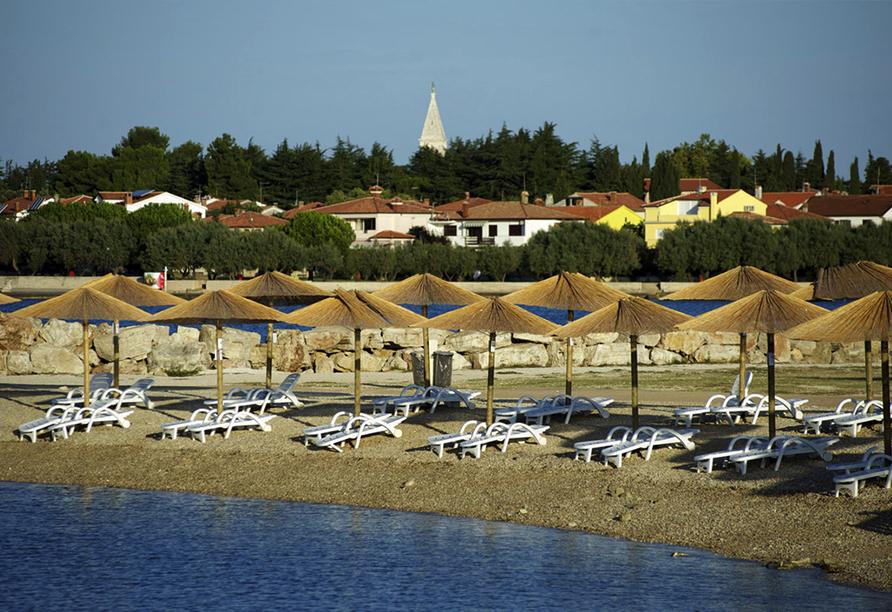 Hotel Aminess Laguna Novigrad Kroatien, Strand