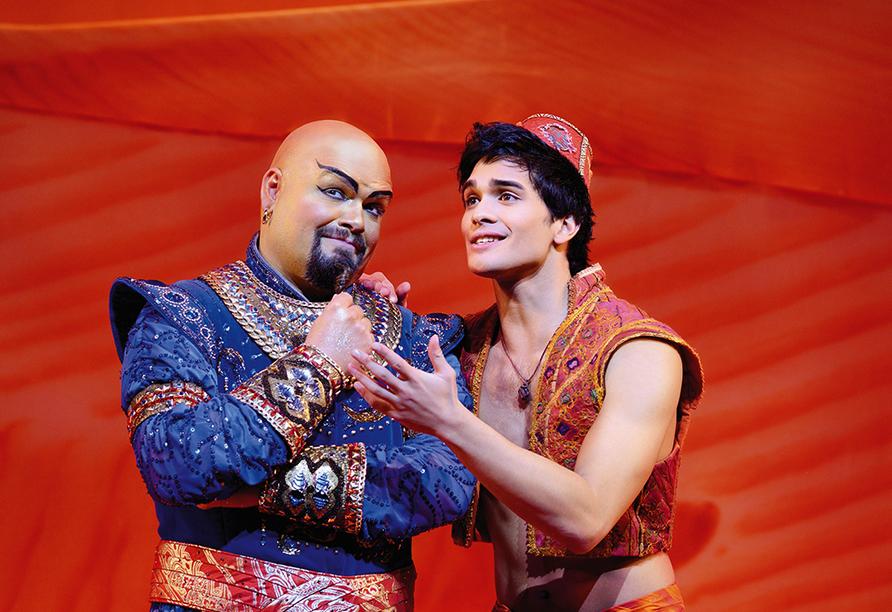 Disney ALADDIN, Dschinni und Aladdin