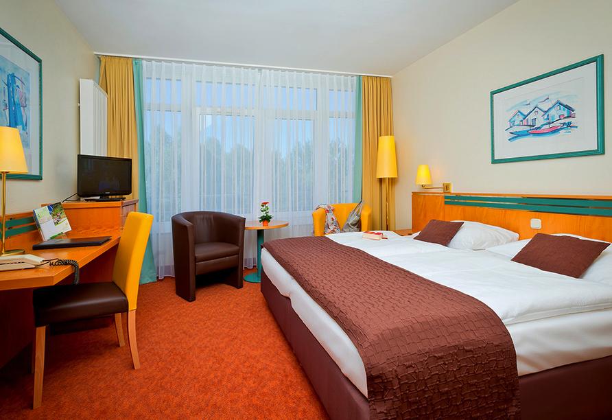 Parkhotel Rügen in Bergen, Beispiel Doppelzimmer