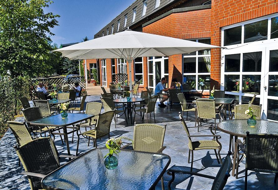 Van der Valk Landhotel Spornitz in Spornitz an der Mecklenburgischen Seenplatte Terrasse