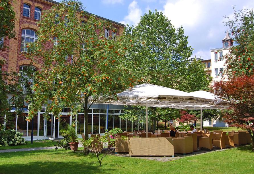 Center Hotel Alte Spinnerei Burgstädt, Innenhof