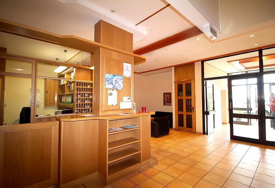 Hotel Almberg in Philippsreut im Bayerischen Wald, Rezeption