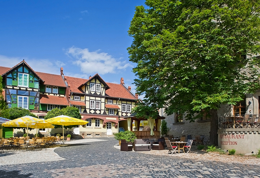 Hotel Resort Schloss Auerstedt in Bad Sulza, Sonnenterrasse