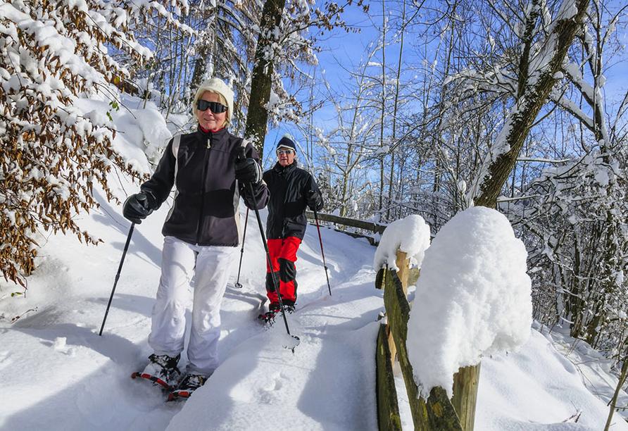 Naturhotel Wieserhof in Ritten in Südtirol, Schneeschuhwanderung