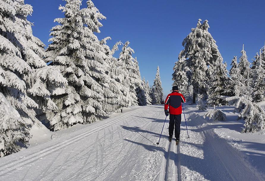 Naturhotel Wieserhof in Ritten in Südtirol, Skilanglauf