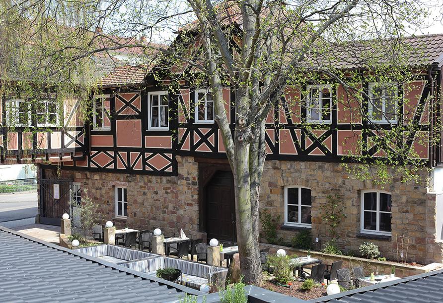 Hotel Palatina in Neustadt an der Weinstraße, Innenhof