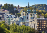 Spa Hotel Cajkovskij in Karlsbad, Blick über die Stadt