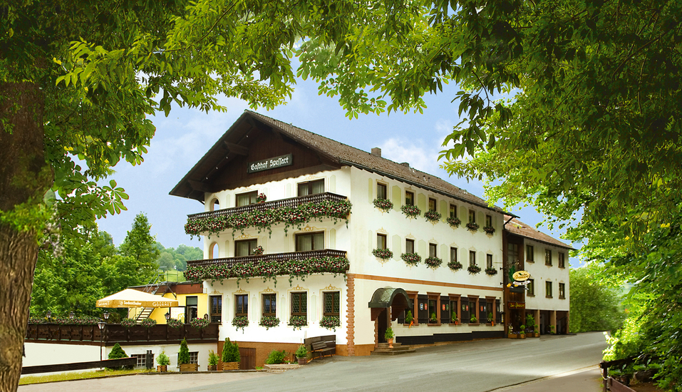 Hotel Zum Spessart in Mespelbrunn Spessart, Außenansicht