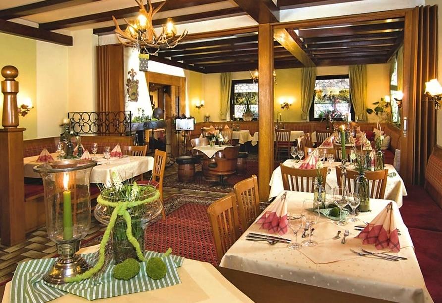 Hotel Zum Spessart in Mespelbrunn Spessart, Restaurant