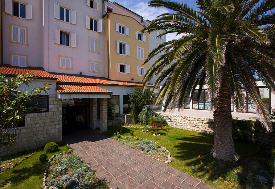 Hotel International in Rab auf der Insel Rab, Hotelanlage